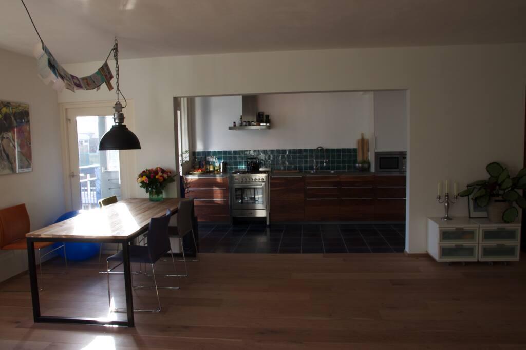 Modern kitchen with new equipment
