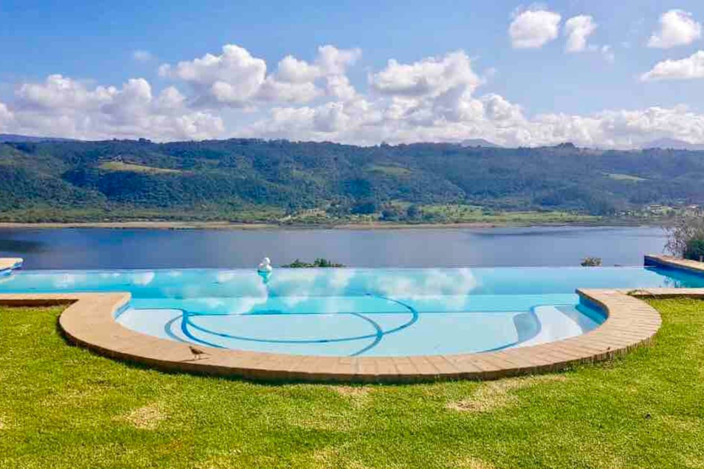 The pool is situated at the main lodge 150m from the cabin