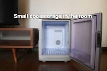 Small cold storage available in the room