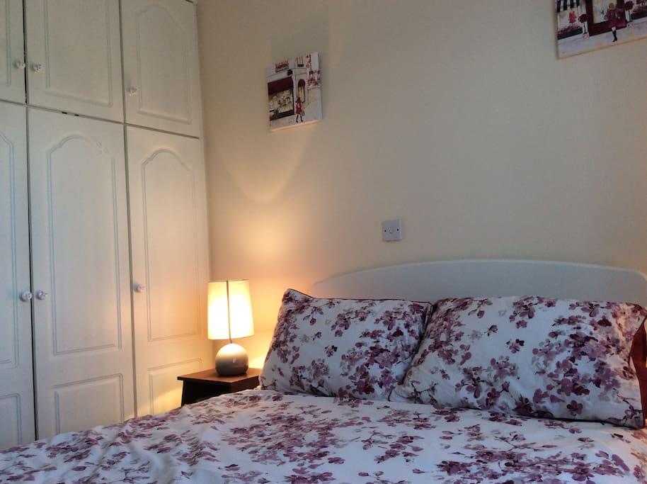 Bedroom with spacious wardrobe