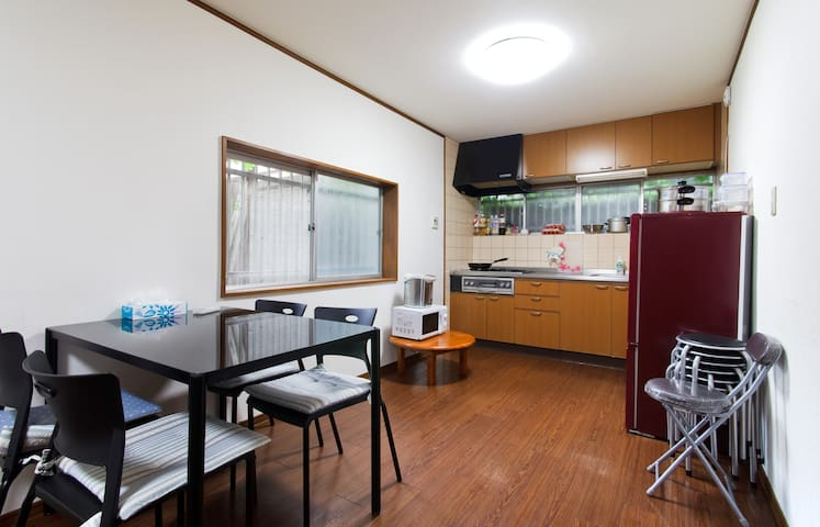 The apartment in Osaka in Japan has comfortable two-person rooms, there are four rooms to choose from, and the apartment is suitable for family groups.