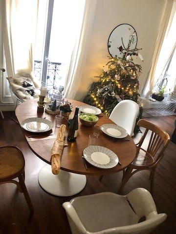 Appartement de charme, calme, au centre de Paris