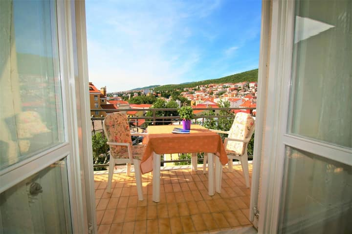One bedroom apartment with balcony and sea view Selce, Crikvenica (A-5481-c)