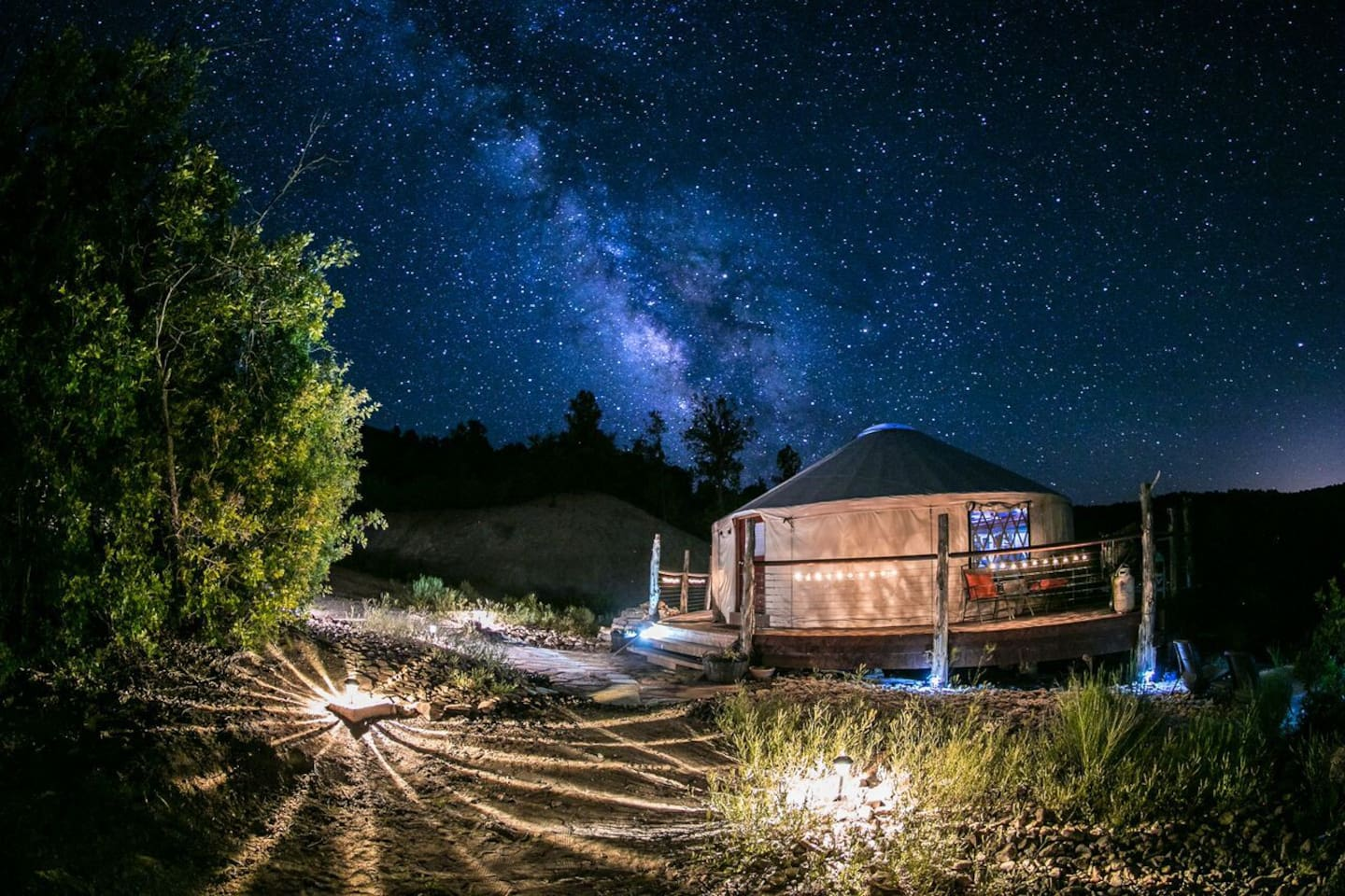 Nighttime magic with the Milky Way.