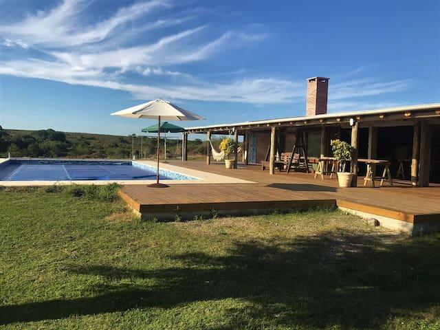 Casa rural en Colonia 1– Spa, Piscina y Barbacoa