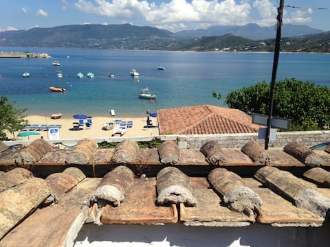 Holidays, sea on the beach of Porto di Palinuro
