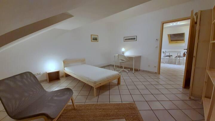 Gemütlich möbliertes Zimmer in grüner Umgebung (3)