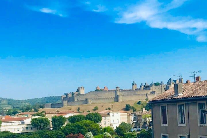 T2 cocooning avec vue panoramique Cité Carcassonne