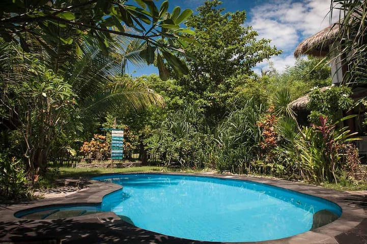 Shared swimming pool & tropical garden