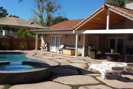 New 2br 2ba Guest Home Pool/Jacuzzi - Solvang - Ház