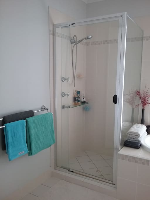 Guest Only Bathroom with Shower & Bath tub. Clean Towels, Soap, Body Wash, Shampoo & Conditioner provided.