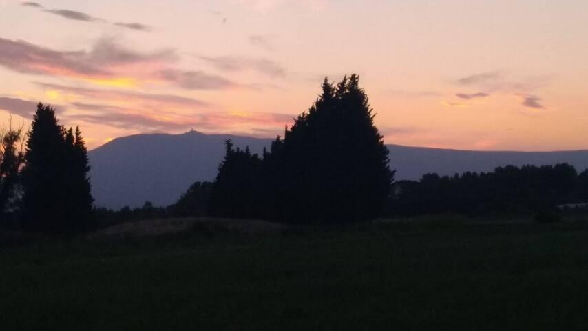 L'aube près du Mont Ventoux ( 60 kms)