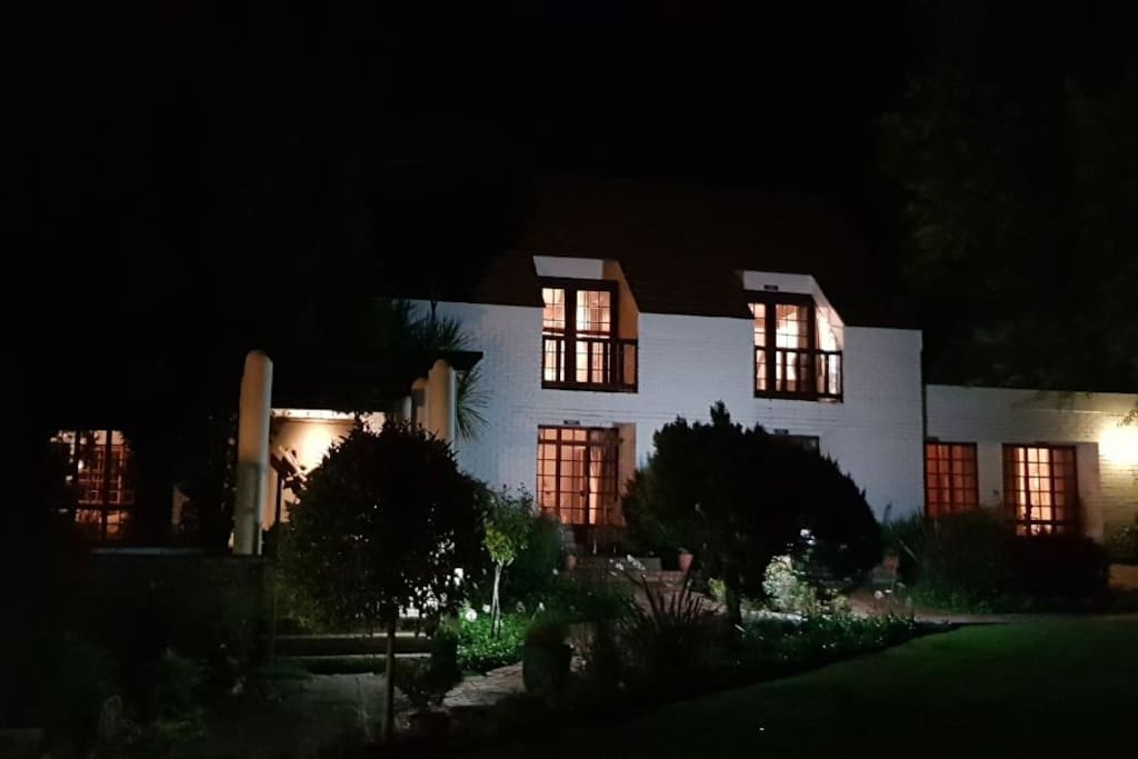 The Fairway Guesthouse at night