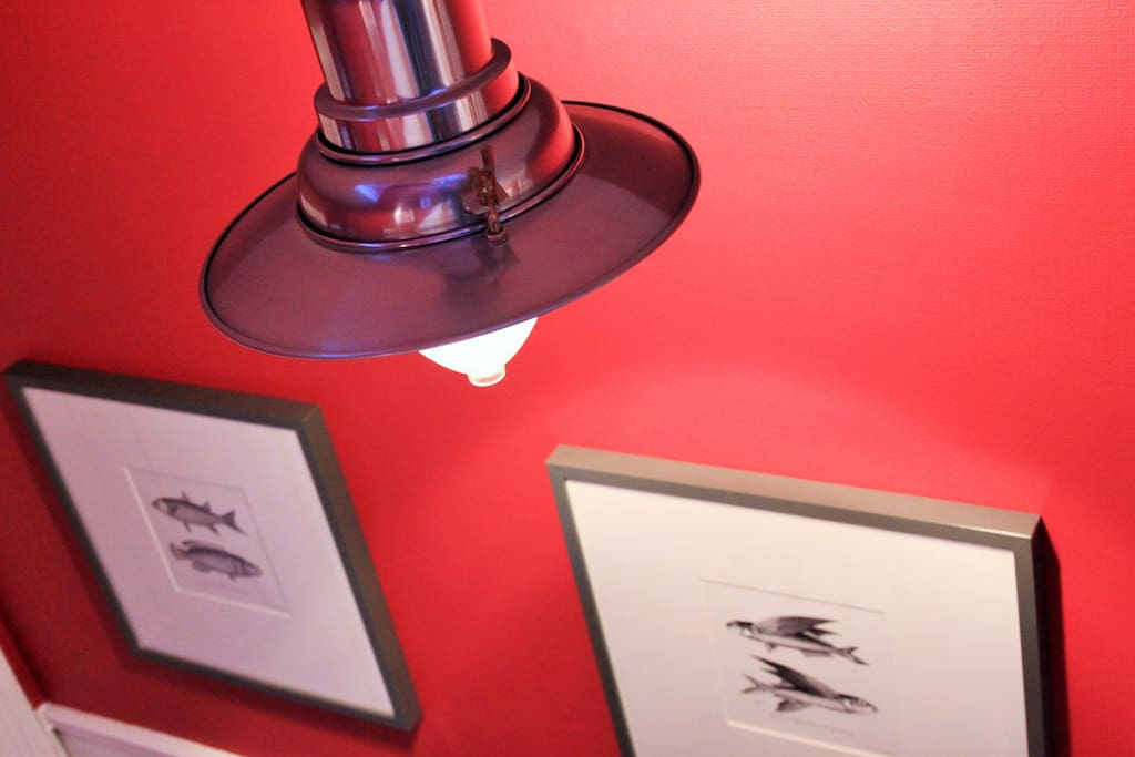 Fisherman's lamp in our Victorian hallway.