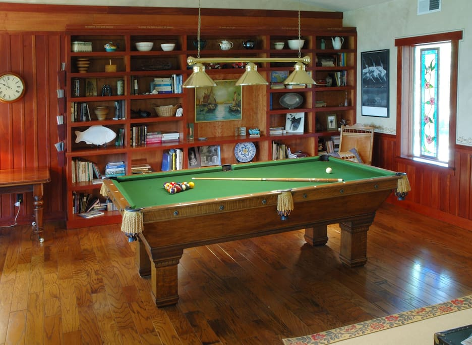 Pool table in the Lodge