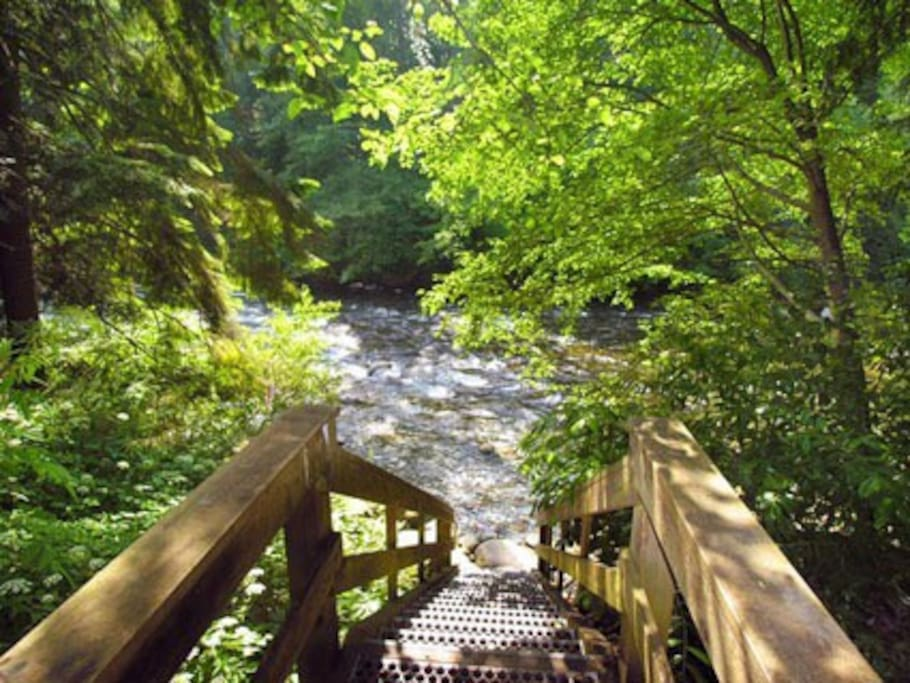 Seymour river steps away