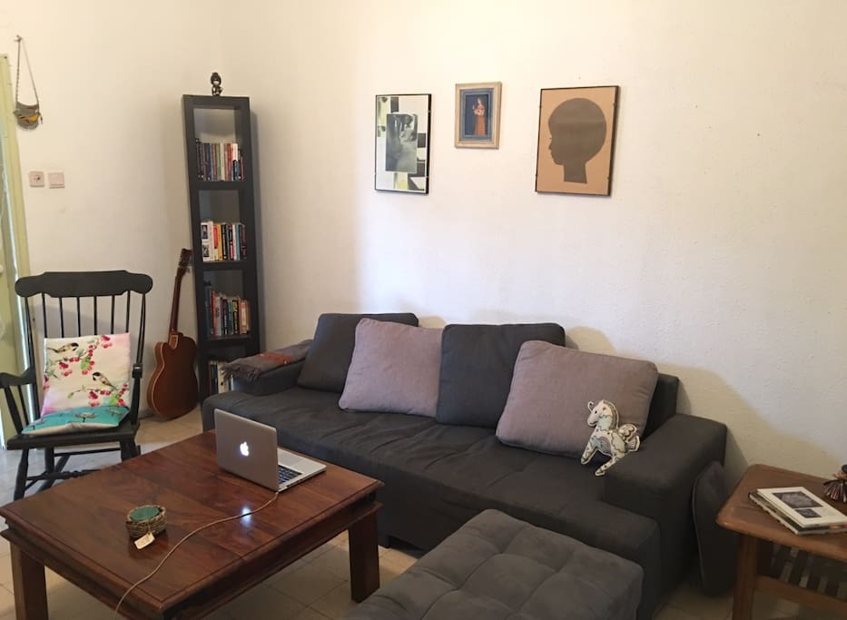 large living room with a large sofa