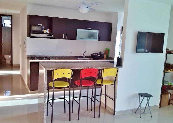 Apartment 2 rooms for rent - Barranquilla (Distrito Especial, Industrial Y Portuario) - Apartment