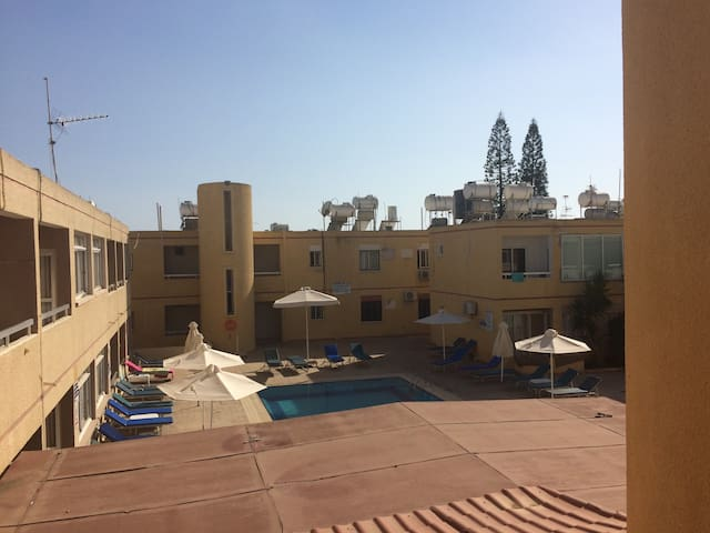 Room with pool in heart of Agia Napa