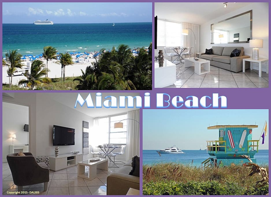 Oceanfront one bedroom w parking apartments for rent in - Cheap 2 bedroom suites in miami beach ...