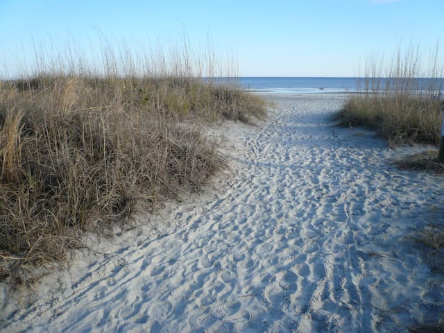 Steps away from the ocean