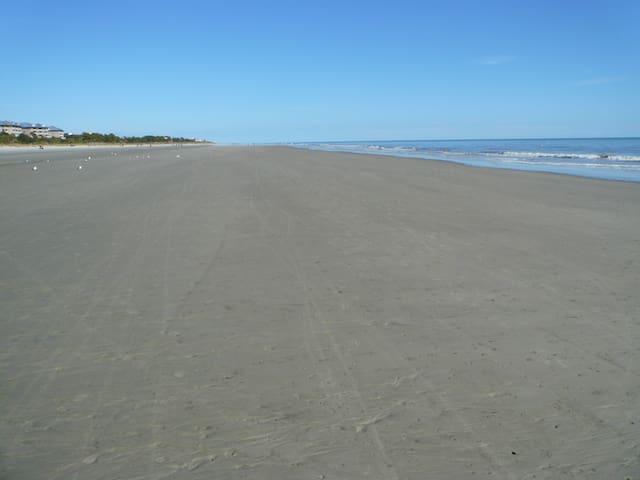 Beautiful wide beach