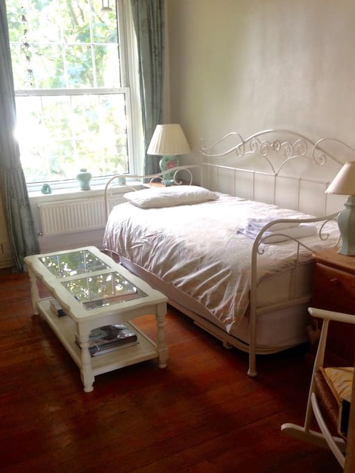 Room set up as single bed