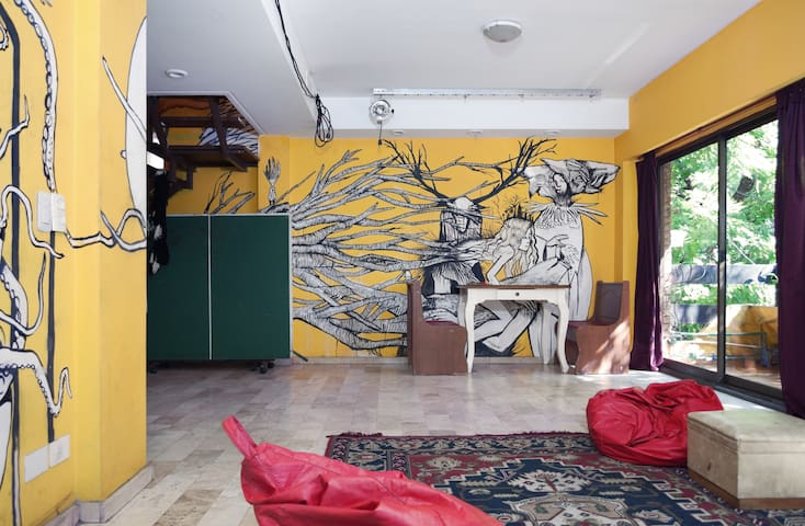 Cool room in art house - Buenos Aires - House
