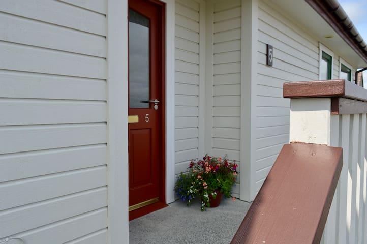 Modern 1.5 story house in Brae, Shetland.