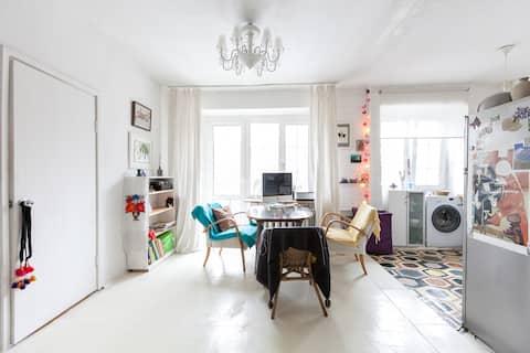 Cozy and bright studio apartment.