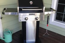 A gas grill available for the guests.