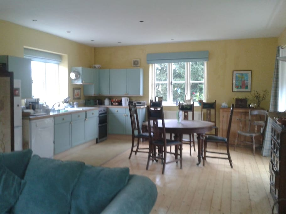 Large airy kitchen/dining room