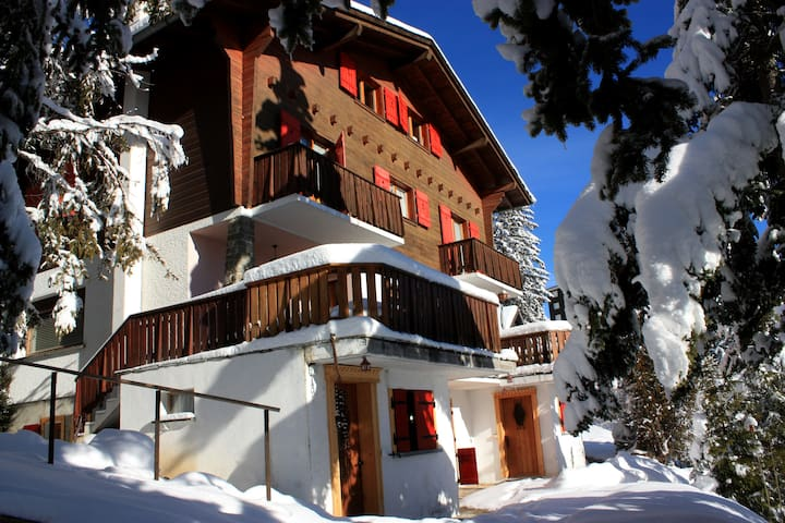 Nicely renewed appartment next to ski slopes (4px) - Montana - Leilighet
