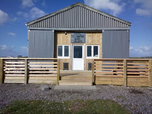The Tractor Shed - Kitchen, Communal Area and Bathrooms