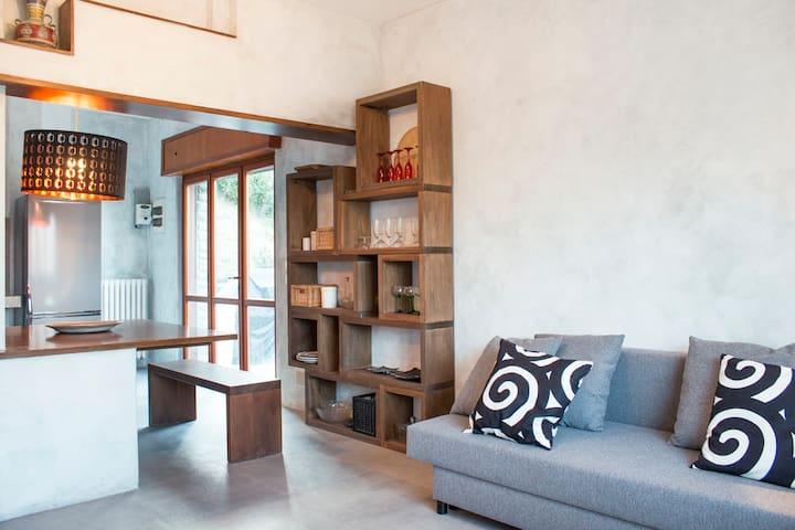 Appartamento in villa con giardino (6) - Bergamo - Huis
