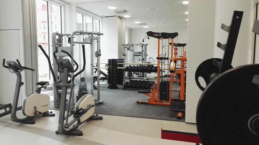 Gym is available in the building (from June 2017 onwards)