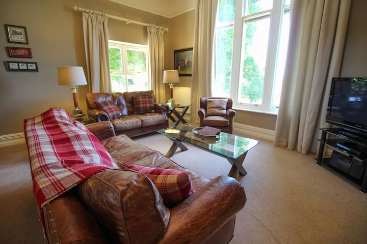 Geltsdale Garden Apartment, Wetheral, all ground floor with views over the Eden Valley to the river.
