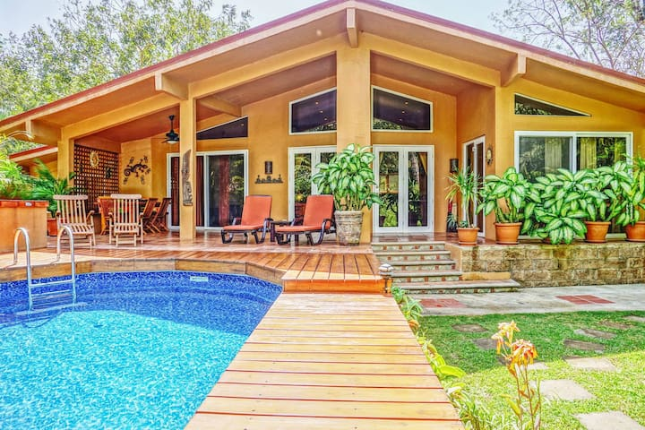 Casa Pelicano 3bed beachhse w/pool Surf & Boogiebd - Palm Beach Estates Playa Grande - Rumah