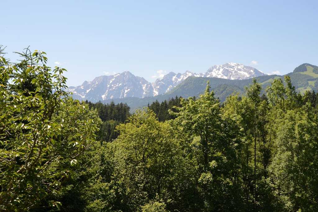 View of the Mountains from our Living Room