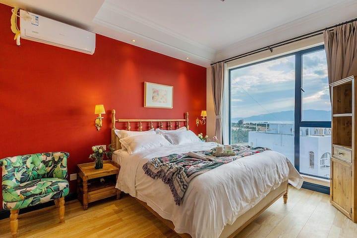地中海浪漫日落湖景大床房 Angela's home in Fuxian Lake