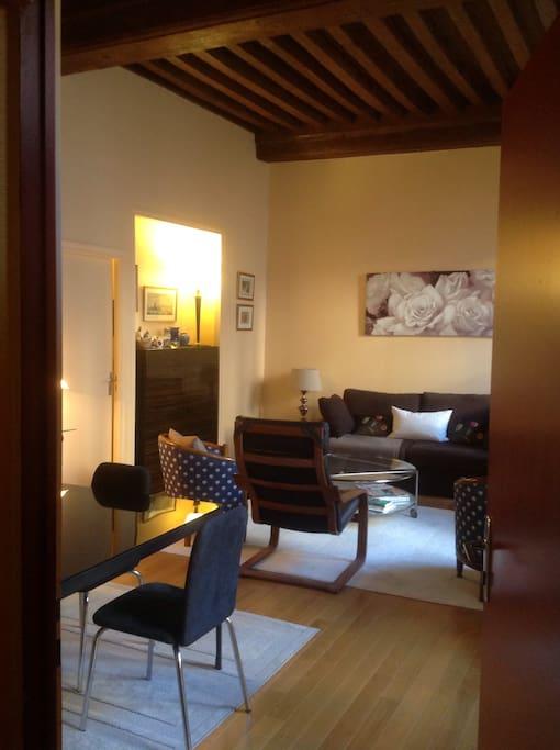 beau studio centre historique dijon appartements louer dijon bourgogne france. Black Bedroom Furniture Sets. Home Design Ideas