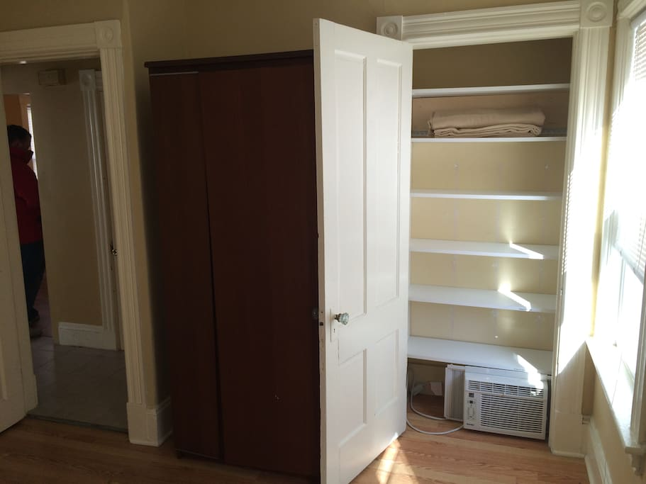 Two closets!