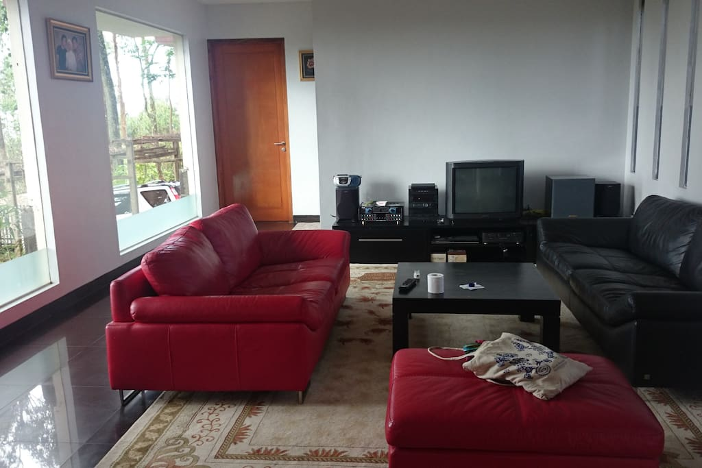 Spacious Living room. DVDs, Audio Player and a TV. Most importantly, our comfiest sofas would serve well for all-day companionship. With or without your loved  ones.