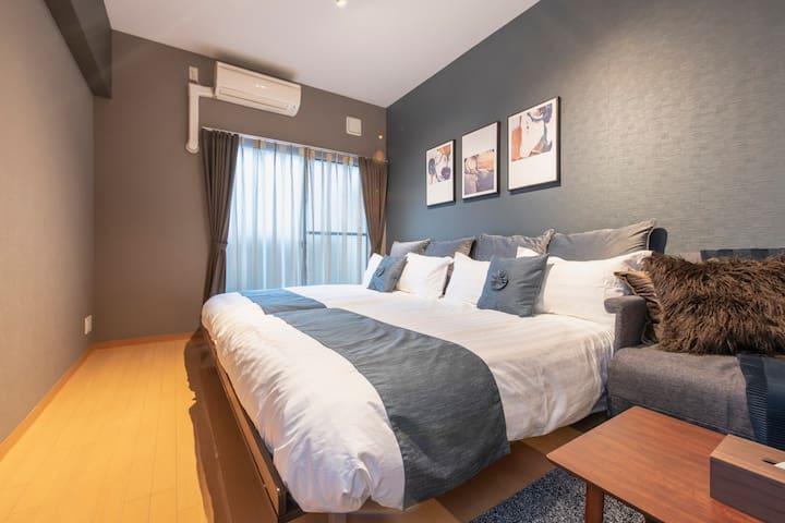 临近心斋桥 提供免费便携式WIFI 大阪舒适公寓!#403