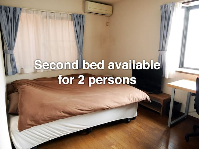 Second bed available for 2 persons.