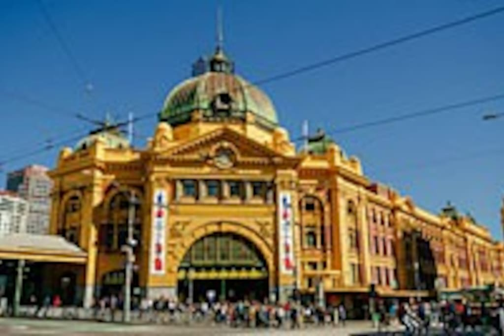 Flinders Street Station right across the road!