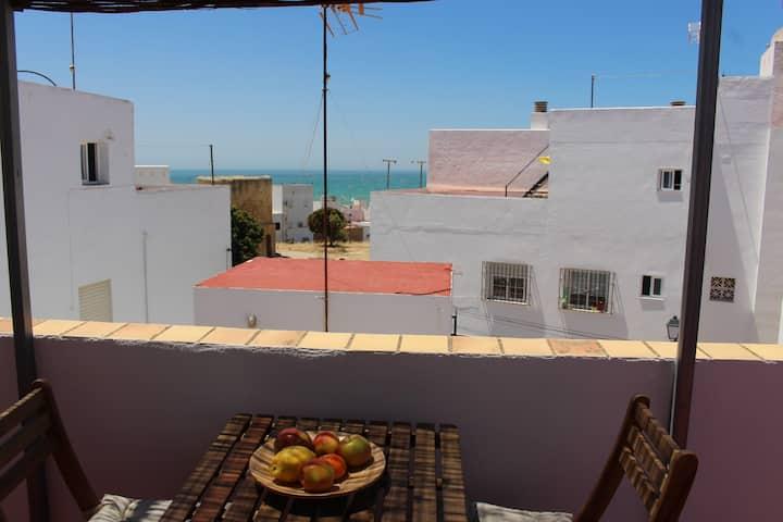 El Buho 2, near beach+center, sea view terrace
