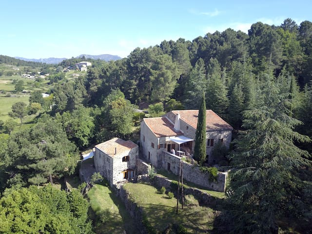 big old house with a valley view