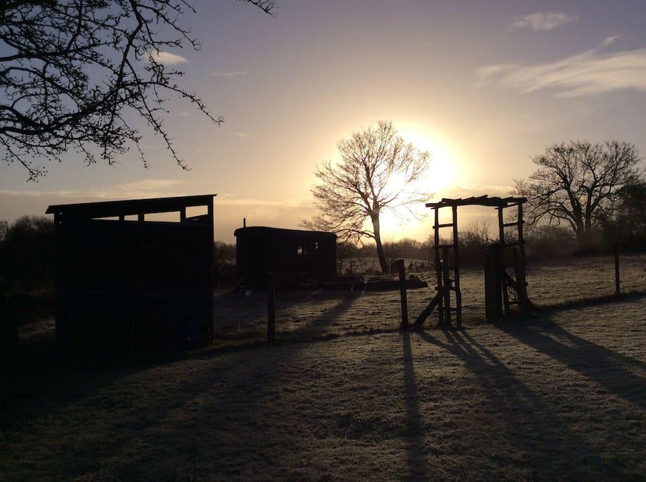 Lovely winter sunrise