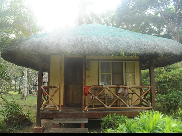 our humble bamboo huts